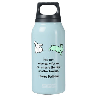 """Bunny Buddhism """"Hops of Other Bunnies"""" SIGG Bottle"""