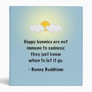 "Bunny Buddhism ""Let It Go"" Binder"