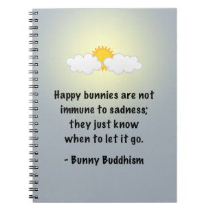 """Bunny Buddhism """"Let It Go"""" Notebook"""