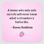 "Bunny Buddhism ""Taste of a Strawberry"" Stickers"
