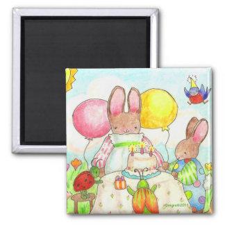 bunny bug birthday party magnet