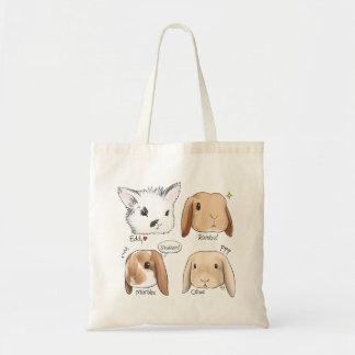 Bunny Bunch Tote Budget Tote Bag