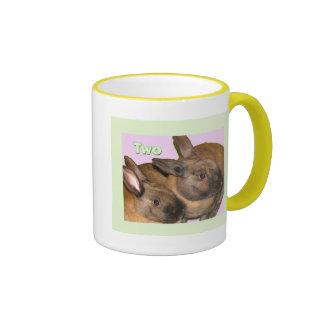 Bunny Bunnies Two Bunnies Ringer Mug