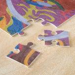 """Bunny Bunny Hop Hop"" original abstract Jigsaw Puzzles"