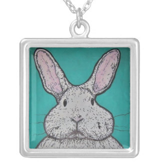 Bunny Bunny Square Pendant Necklace