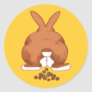 Bunny Butt Stickers