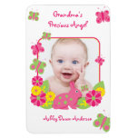 Bunny Butterfly Baby Photo Template Magnet