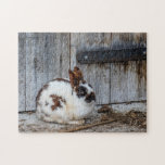 Bunny By The Barn Jigsaw Puzzle