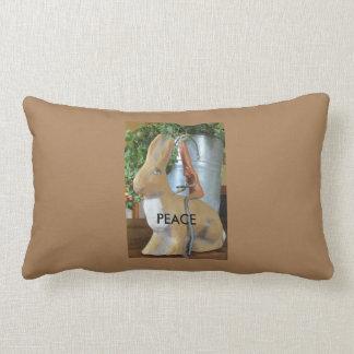 Bunny & Carrot - Peace for the world? Lumbar Pillow