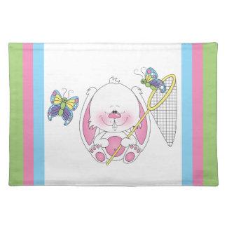 Bunny Cartoon Cloth Placemat