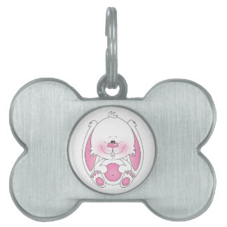 Bunny Cartoon Pet Tag