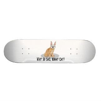 Bunny Cat Sad Skateboard Deck