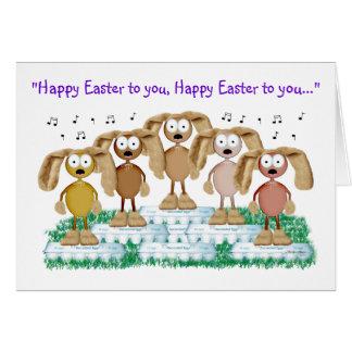 Bunny chorus card