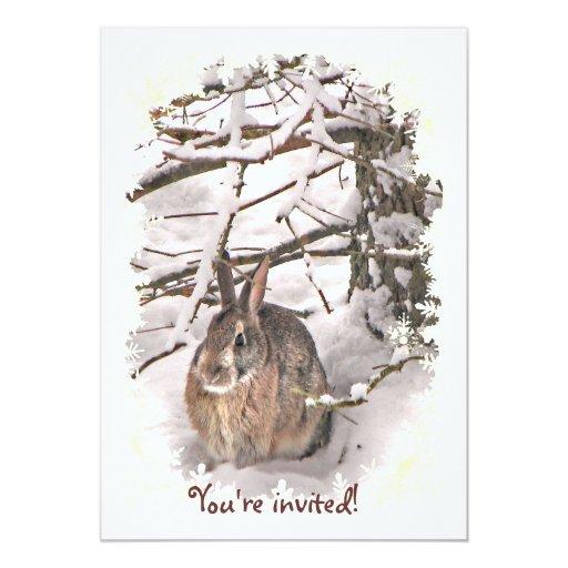 Bunny Christmas Invitation