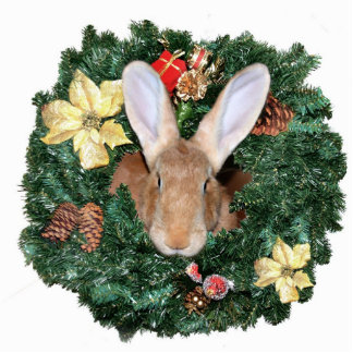 Bunny Christmas ornament