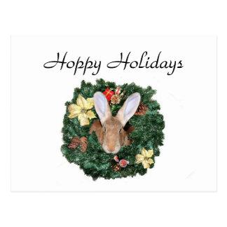 Bunny Christmas Postcard