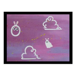 bunny clouds postcards