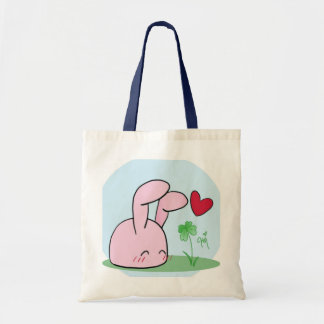 Bunny Clover Tote Bag