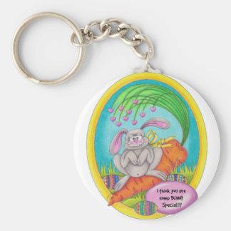 Bunny Coloured-words Keychain