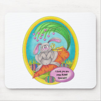Bunny Coloured-words Mouse Pad