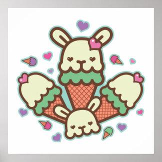 bunny cone love print