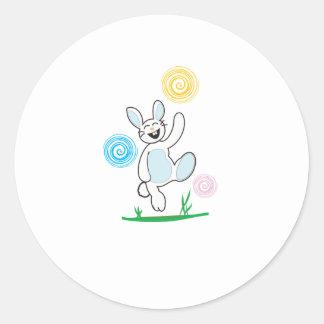 Bunny copy round stickers