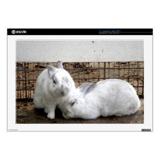 "Bunny Couple 17"" Laptop Skins"