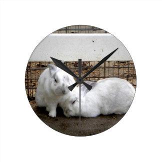 Bunny Couple Round Clock