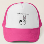 Bunny Cow Wants to Go Home Trucker Hat