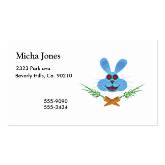 Bunny & Cross Carrots Double-Sided Standard Business Cards (Pack Of 100)