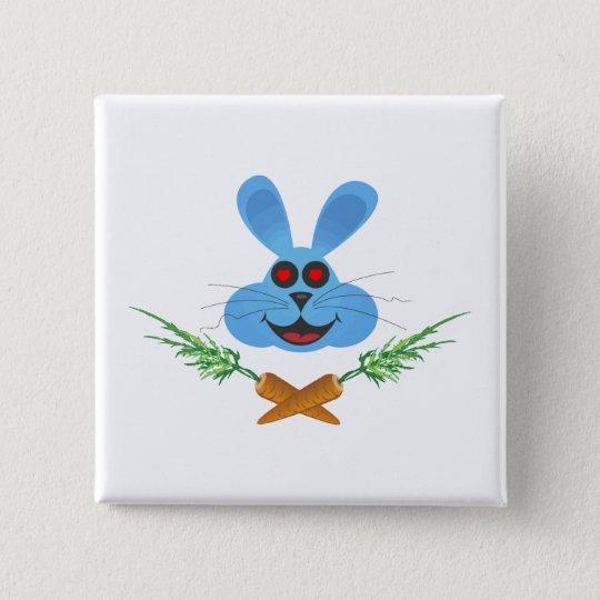Bunny & Cross Carrots Pinback Button