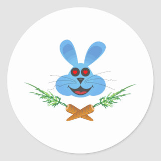 Bunny & Cross Carrots Classic Round Sticker