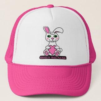 Bunny,cruelty free please trucker hat