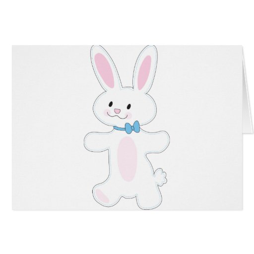 Bunny Cut Out Greeting Cards