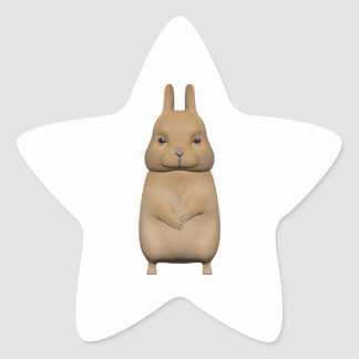 Bunny cute and lovely star sticker