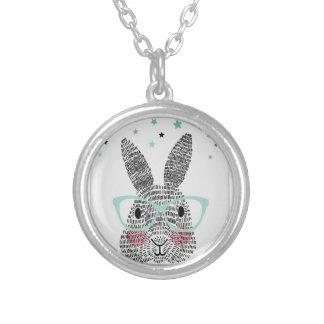 Bunny cute silver plated necklace