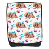 Bunny cutie polka dots bow pattern backpack
