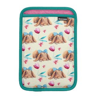 Bunny cutie polka dots bow pattern iPad mini sleeve