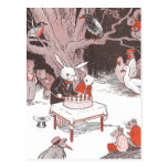 Bunny Cuts Birthday Cake Post Cards