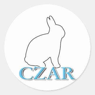Bunny Czar Classic Round Sticker