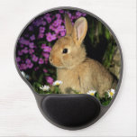 Bunny Daisy Whimsical Blossoms Flowers Vines Gel Mouse Pads