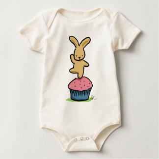 Bunny Dancing on a Cupcake Baby Bodysuit