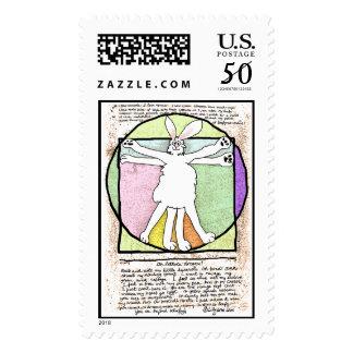 Bunny DaVinci Lettuce Code Custom Postage Stamps