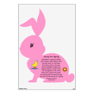 Bunny Decal With Poem