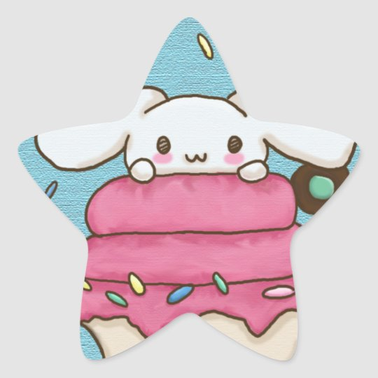 bunny desert star sticker