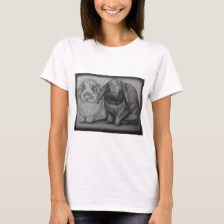 Bunny Drawing Rabbit Animal Chalk Art T-Shirt