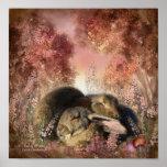 Bunny Dreams Art Poster/Print