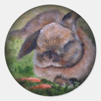 Bunny Dreams Classic Round Sticker