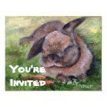 """Bunny Dreams Invitation 4.25"""" X 5.5"""" Invitation Card"""