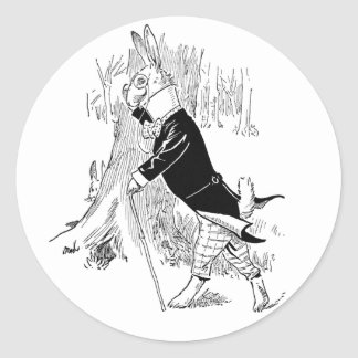 Bunny Dressed Up for a Date Classic Round Sticker